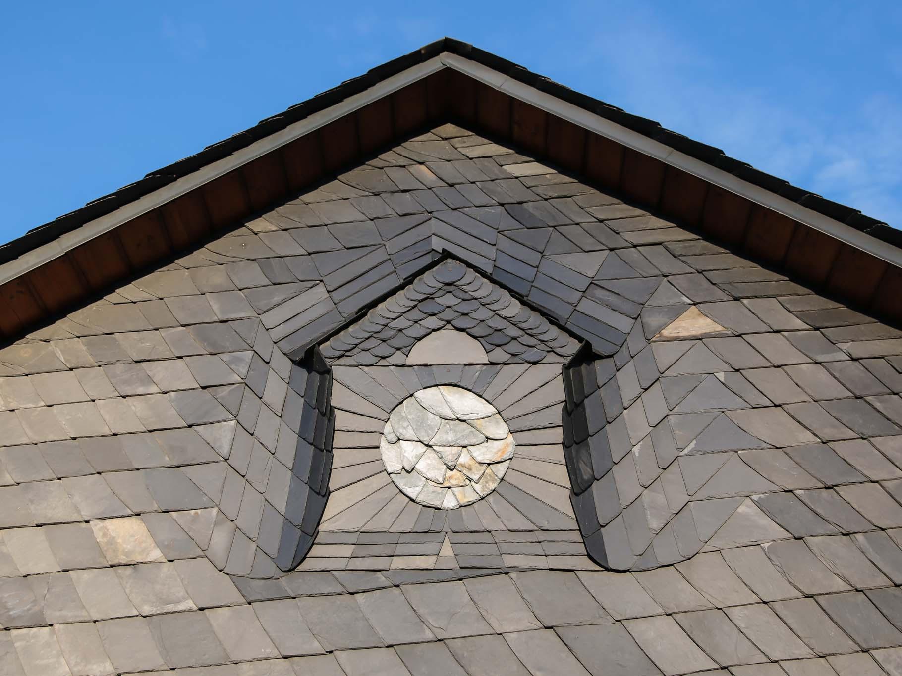Bedachung, Dach, Schiefer, Mülsen